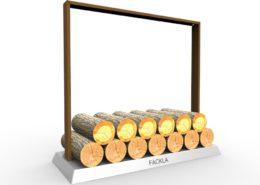 Dit is de Fakcla Houtopslag, ideaal om een voorraad hout bij je kachel te hebben. Of het nou gaat om een binnen of een buiten kachel het kan allemaal. Zo hoef je niet steeds op en neer naar het houthok.